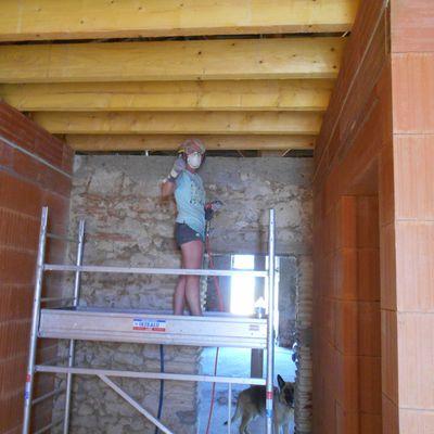 Décapage et nettoyage des murs - juillet 2016