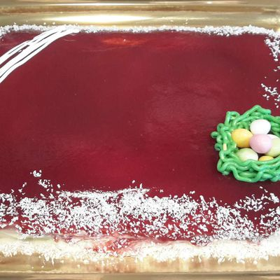 Bavarois fraises kiwis et son croustillant 👍