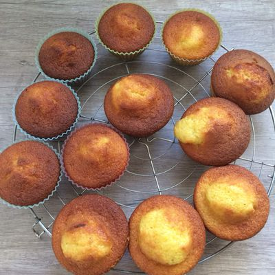 Muffins au yaourt, coeur surprise