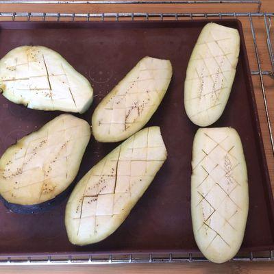 Aubergines farcies jambon et parmesan