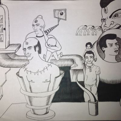 """Dessin - Drawing """"crazy people"""""""