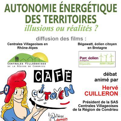 Café-citoyen Orliénas 9 octobre : Autonomie énergétique des territoires.
