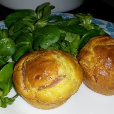 Muffins aux lardons et chèvre