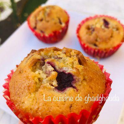 Muffins chocolat blanc -framboises 🧁