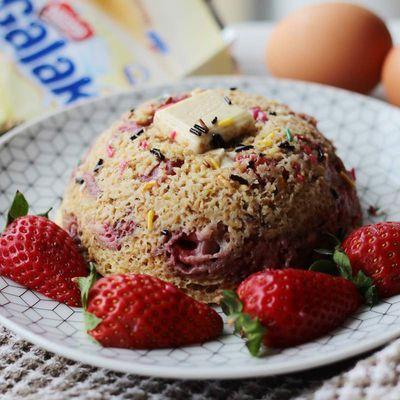 Bowlcake fraise et chocolat blanc 🍰