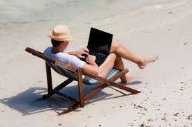 Travailler pendant les vacances...