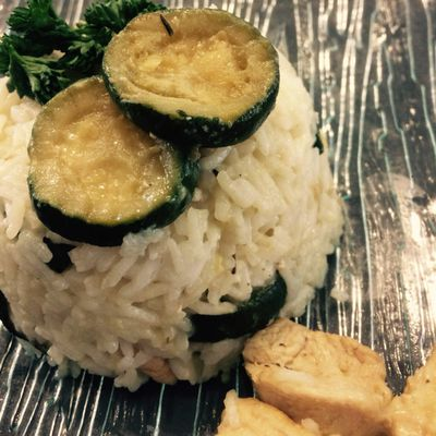 Risotto poulet courgettes