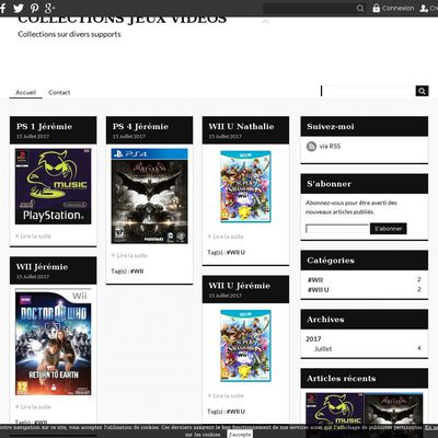 COLLECTIONS JEUX VIDEOS