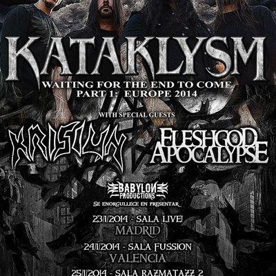 KATAKLYSM + KRISIUN @ Sala Live, Madrid, Spain - Jan 23 2014