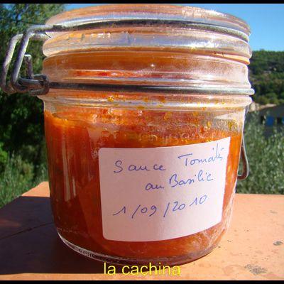 faire votre Sauce tomate au basilic