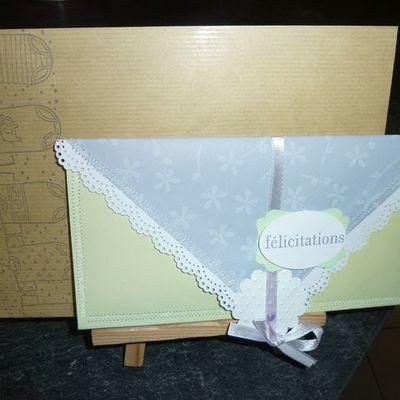 Pochette cadeau pour une naissance