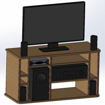 Fabrication d'un meuble TV