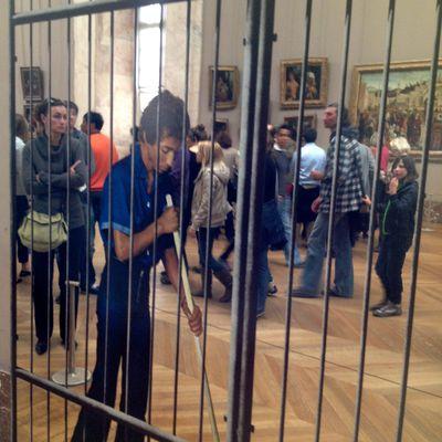 Au Louvre avec Michelangelo Pistoletto