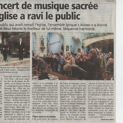 Concert de Claira: la Presse