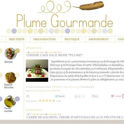"Relooking blog cuisine ""Plume gourmande"" - Canalblog"