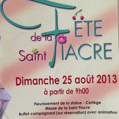 Dimanche 25 août 2013 : Fête de la Saint Fiacre