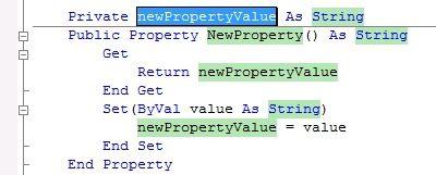 Property Getter Setter in VisualBasic.NET 2010