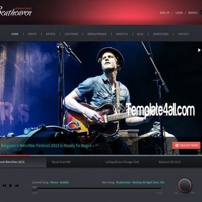 Music Heaver Premium Wordpress Theme