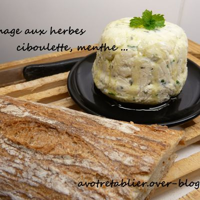Fromage maison aux herbes
