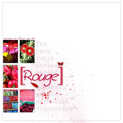Rouge comme ....