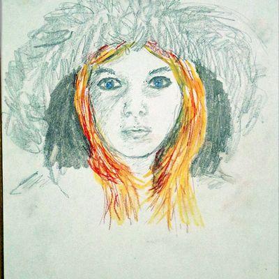 croquis portrait crayon et pastel sec loisirs et culture du dessin
