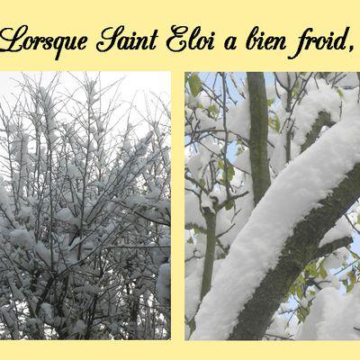 DICTON: froid à Saint Eloi