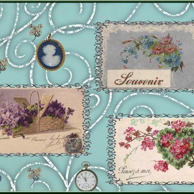 scrap cartes postales