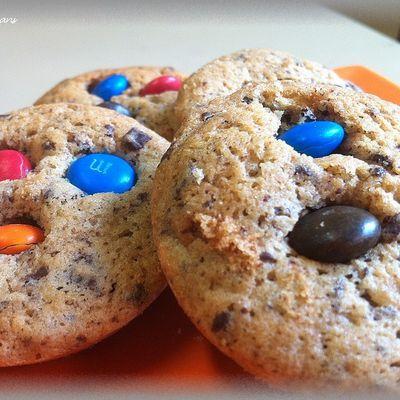 Cookies moelleux chocolat et m&m's ®