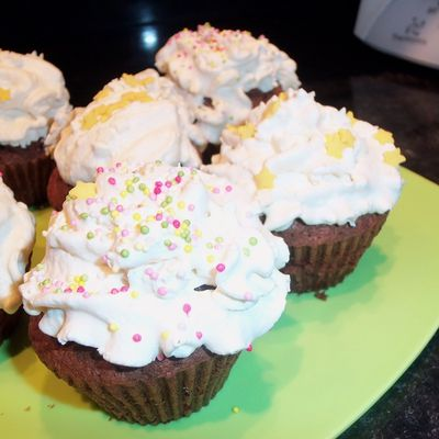 Cupcakes chocolat chantilly vanille