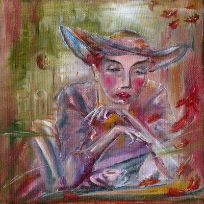 Lilith im Gartencafé, Serie Biblische Geschichten, Hajewski, countess, De 2011,