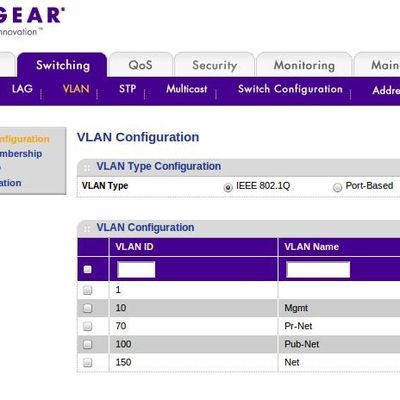 Netgear Vlan switch config guide