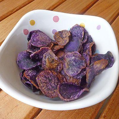 Chips de vitelotte
