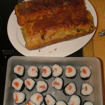 Sushi et cake
