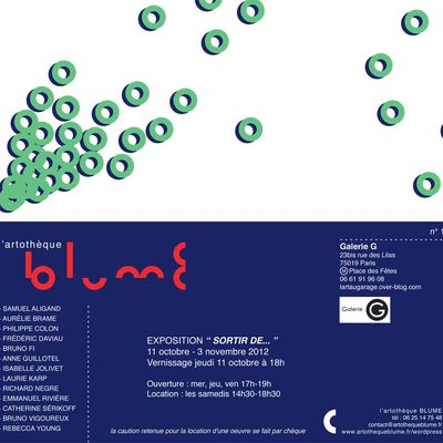 L'ART SE LOUE: Galerie G invite l'artothèque BLUME