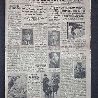 L'exode des Espagnols à travers la presse en 1939