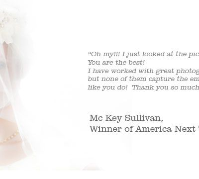 A word from: McKey Sullivan, America Next Top Model Winner