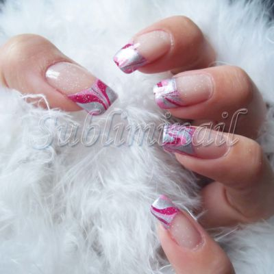 Nail-Art French marble