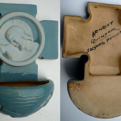 Bénitier breton turquoise, Jacques Philippe, Henriot Quimper