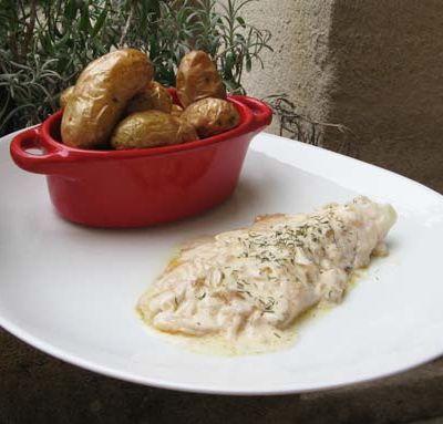 Filets de dorade, sauce aux échalotes