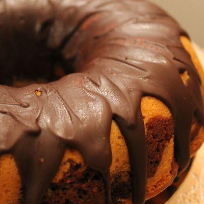 Gâteau marbré vanille & chocolat