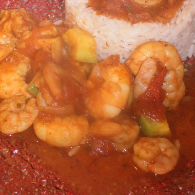 Curry express avocat crevettes
