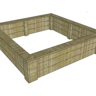 Potager en carrés