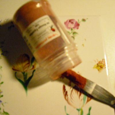 La peinture pour porcelaine!