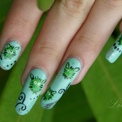 Nail art ploum (De cherry nail art)