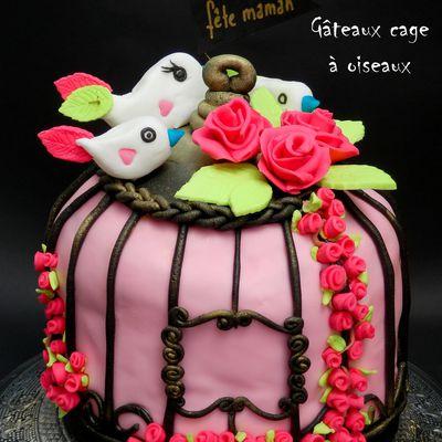 Gâteau cage à oiseaux - Bird cage cake