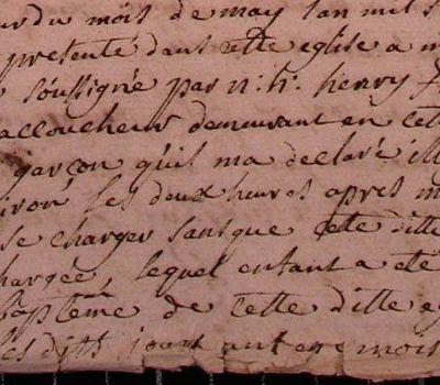 Joseph, recueilli par l'accoucheur (1747)