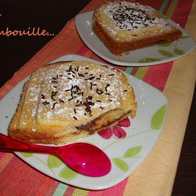 Croque-Brioche: Banane Nutella