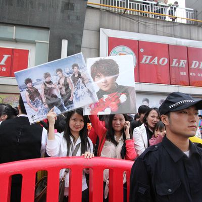 A boys band raised up the temperature in Changsha, China