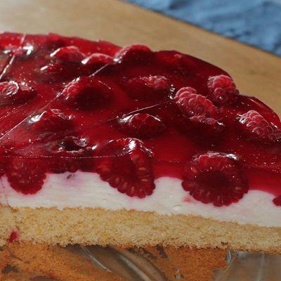 Quark-Himbeer-Kuchen nach eigenem Rezept