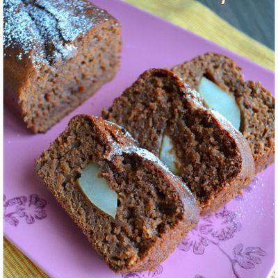 Cake léger au Chocolat & Poires WW
